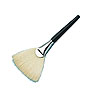 Fan mask brush for body or face mask